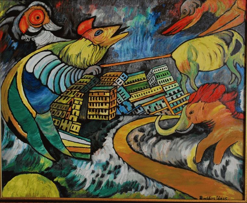 Balázs János Galéria Roma Polgárjogi Mozgalom MRPE - Rombolás - A világ pusztulása című képe