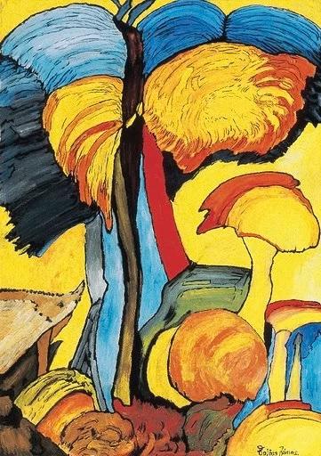 Balázs János Galéria Roma Polgárjogi Mozgalom MRPE Tájkép sünnel című képe